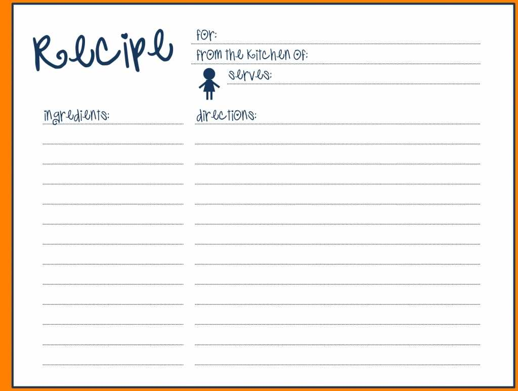 004 Template Ideas Free Recipe For Word Blank Card With Full Page Recipe Template For Word