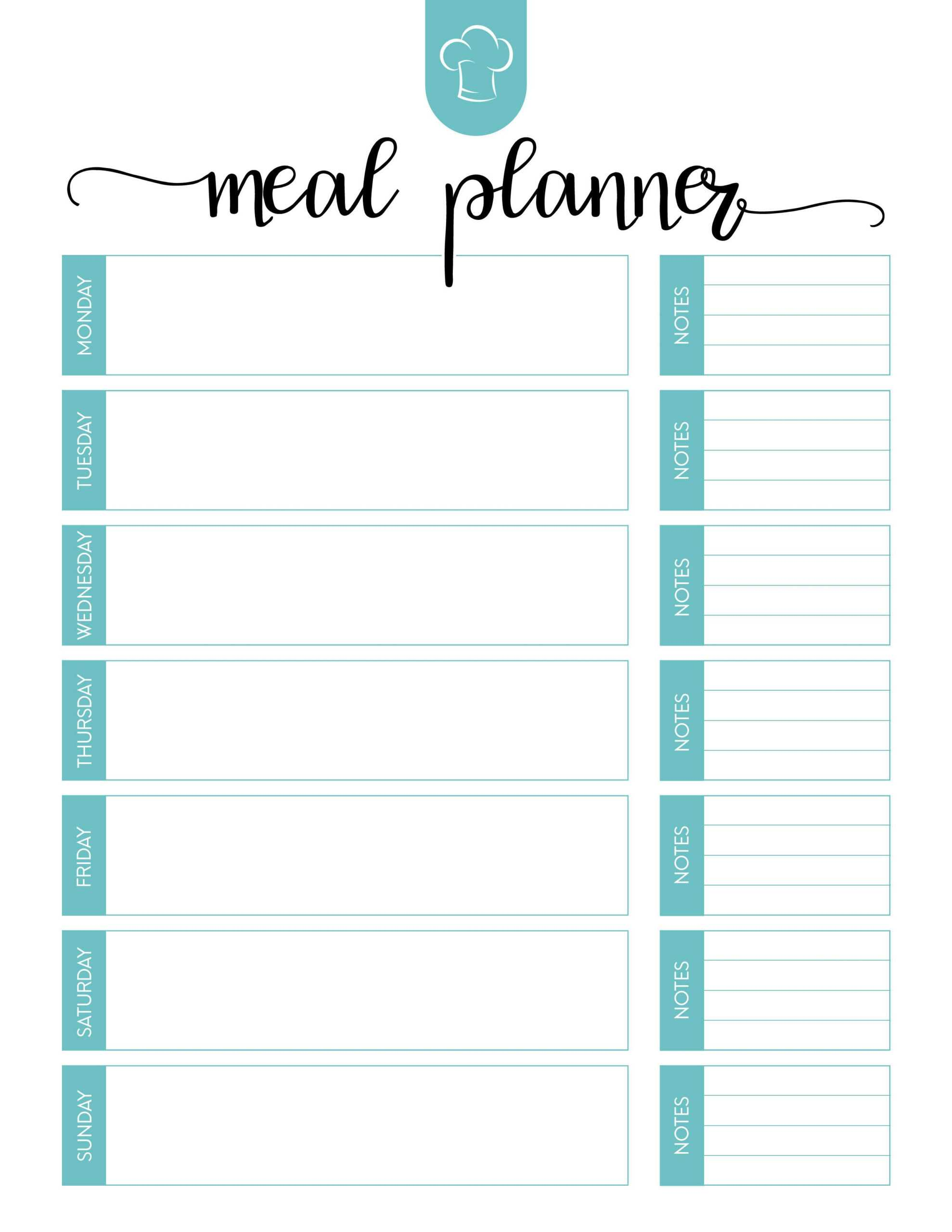 005 Free Menu Plan Template Unique Ideas Meal Planning In Meal Plan Template Word