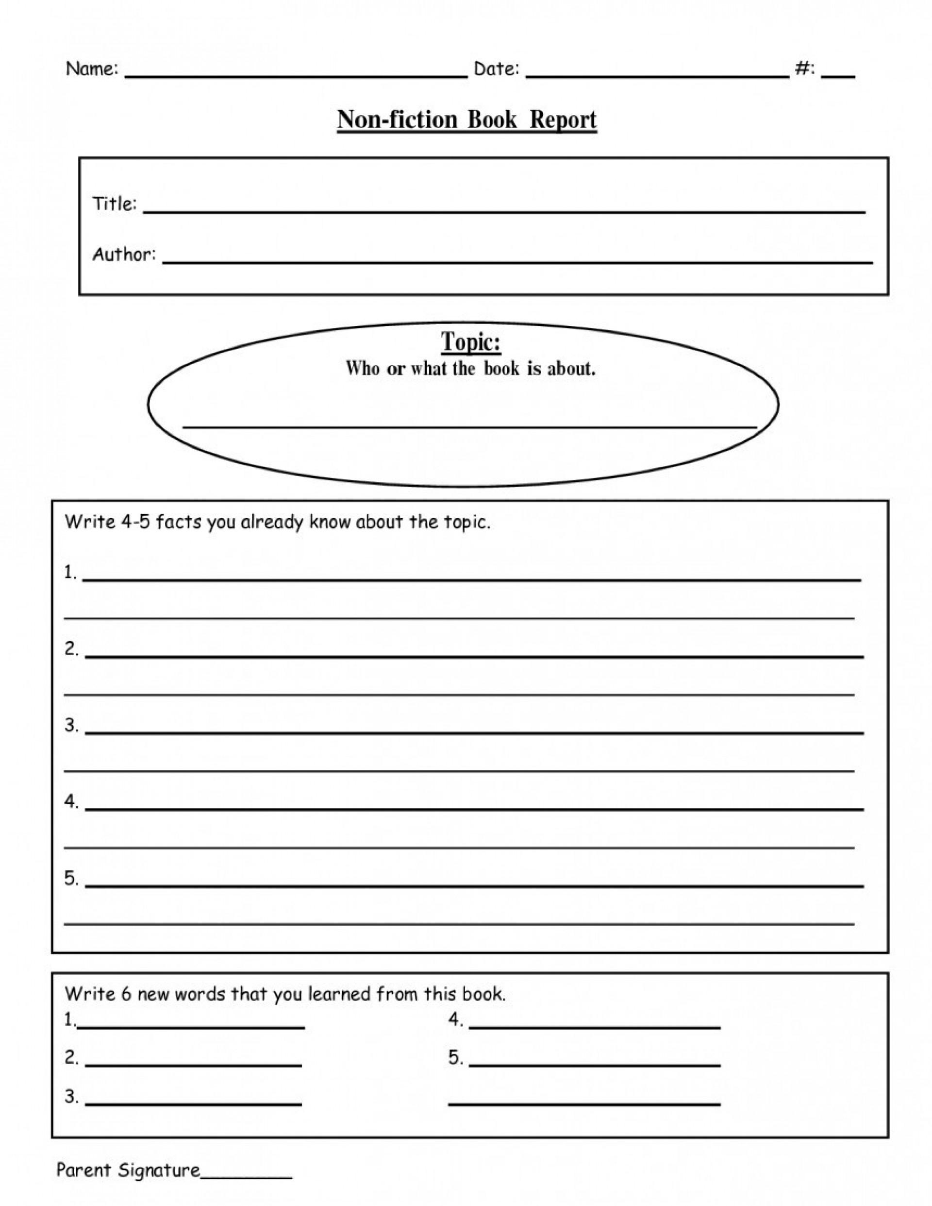 005 Writing Biography Template 4Th Grade Ideas Book Report Inside 4Th Grade Book Report Template