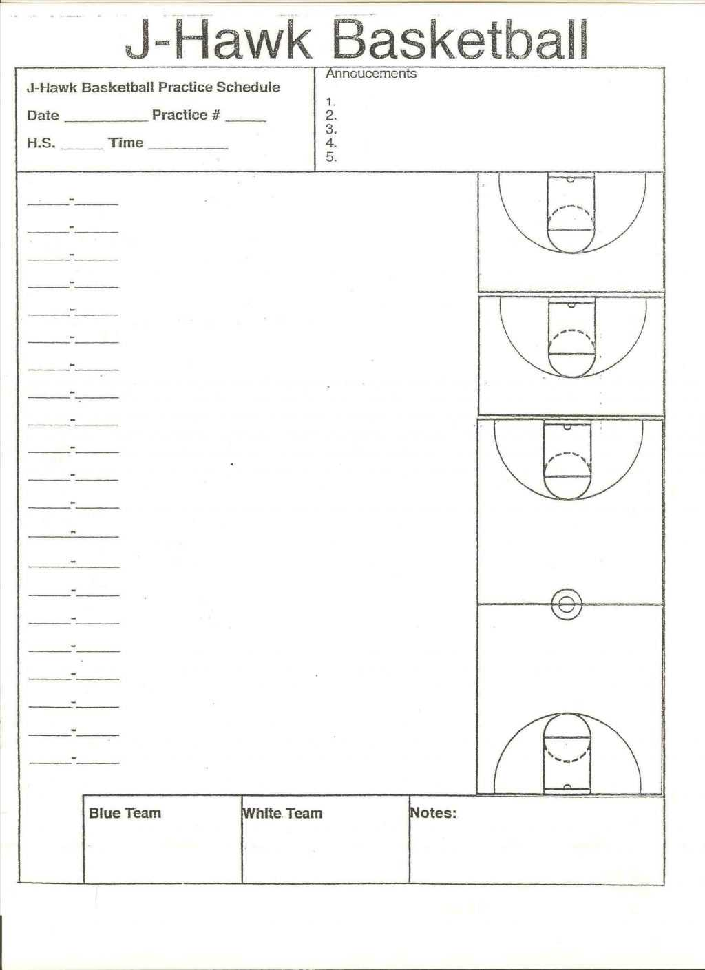 006 Template Ideas Basketball Practice Plans Plan Awesome Intended For Blank Hockey Practice Plan Template