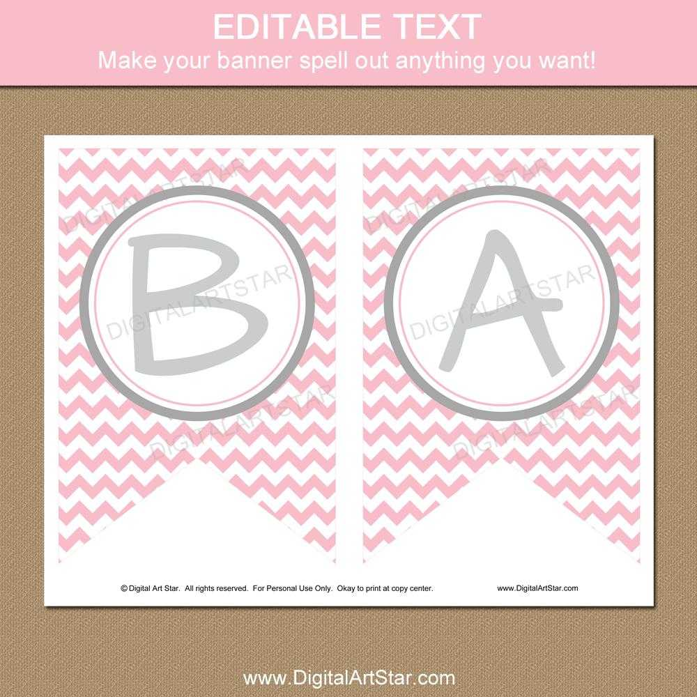 007 Baby Shower Banner Templates Template Ideas Editable With Baby Shower Banner Template