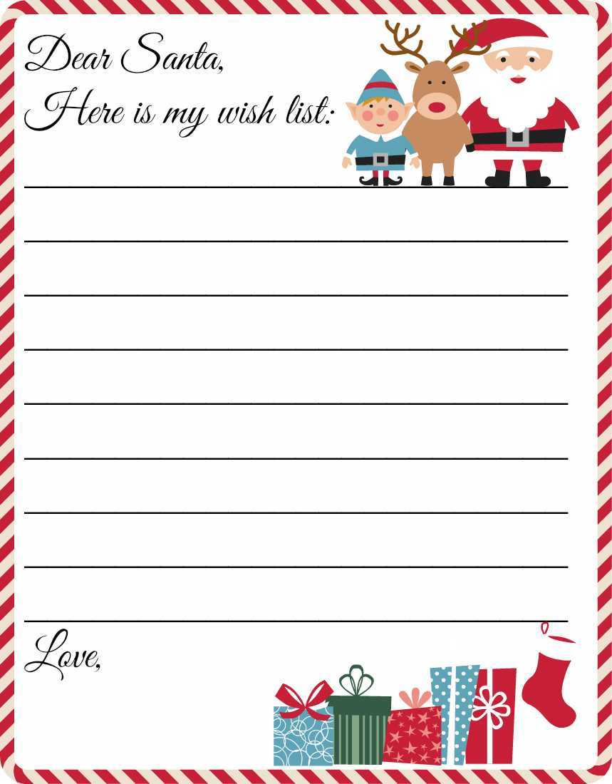 009 Dear Santa Blank Letter From Template Pdf Stunning Ideas Pertaining To Blank Letter From Santa Template