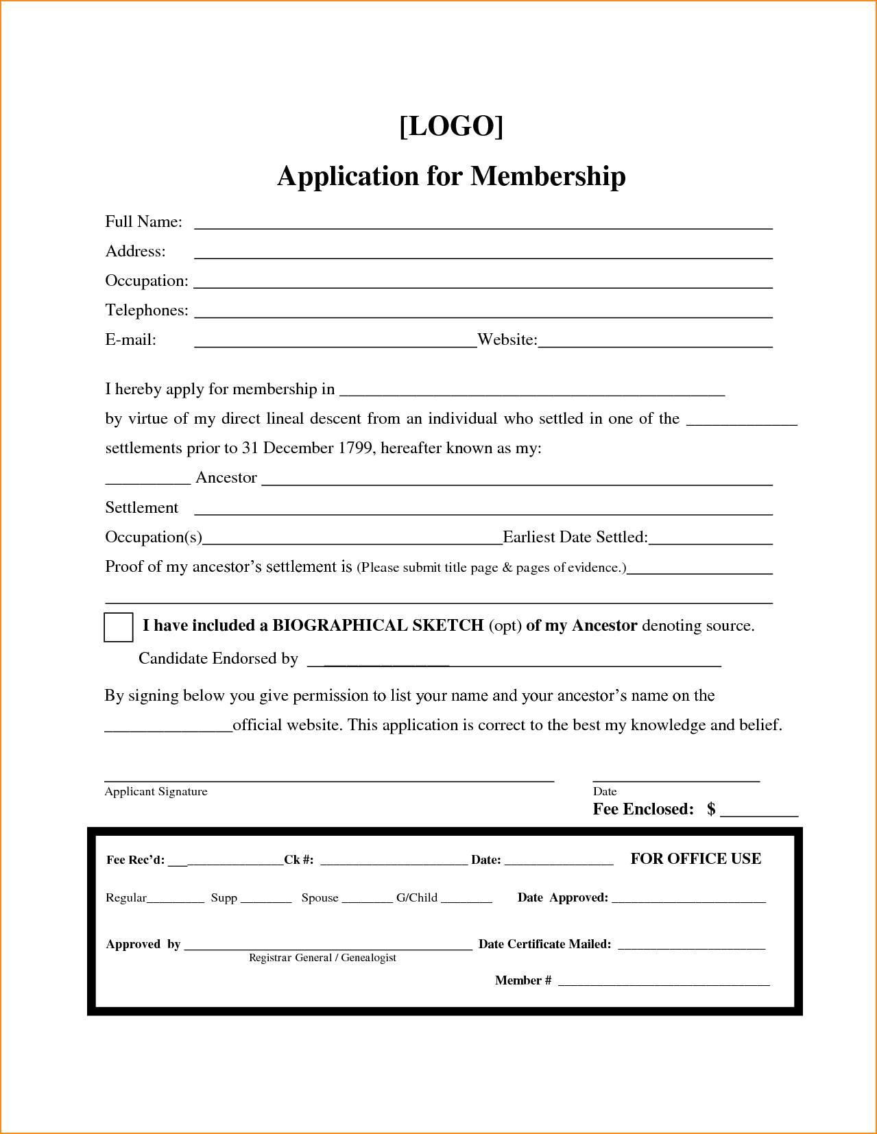 009 Large Free Printable Camp Registration Form Templates Pertaining To Camp Registration Form Template Word