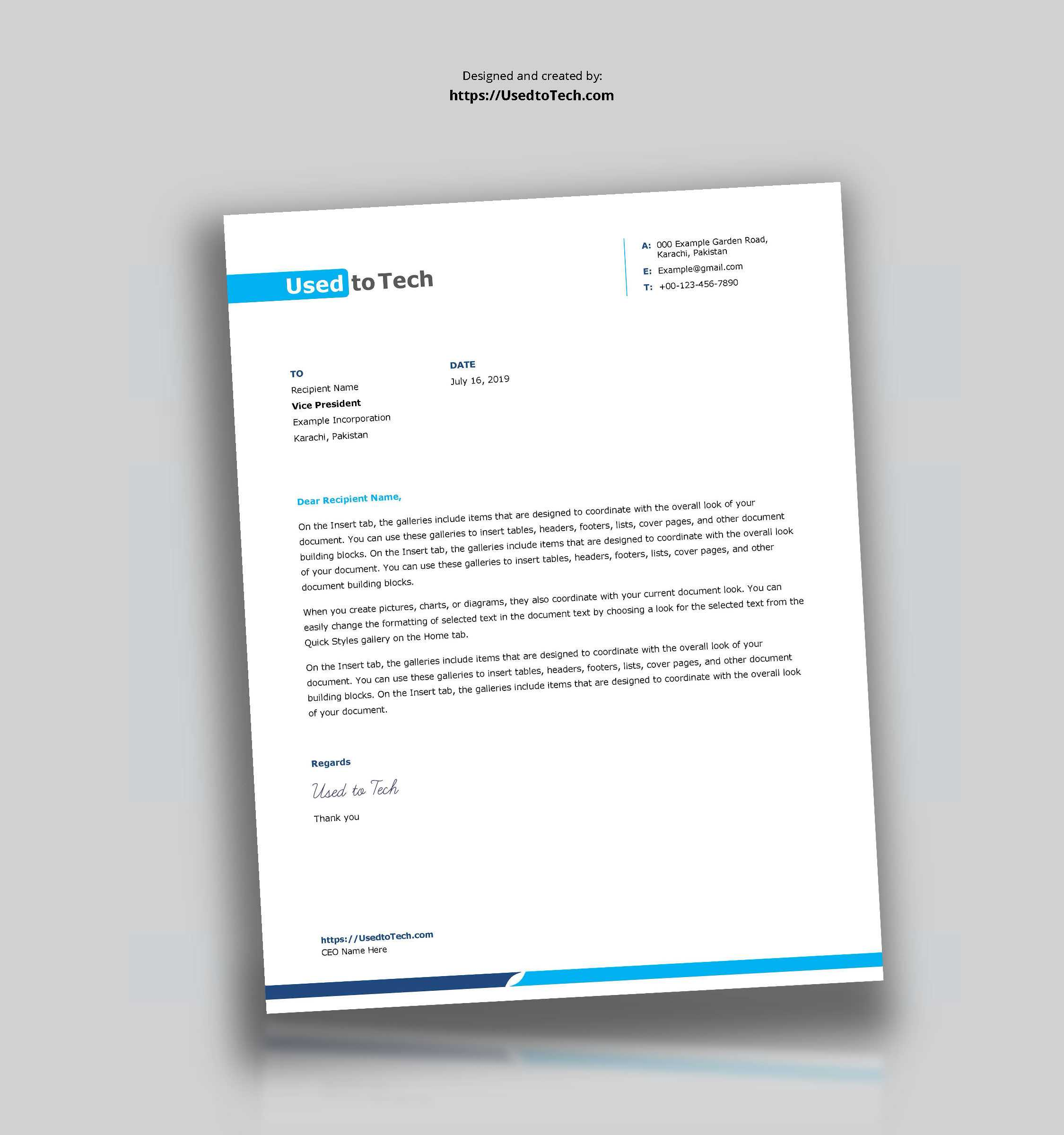 009 Template Ideas Letterhead Design Templates Word Free For Headed Letter Template Word