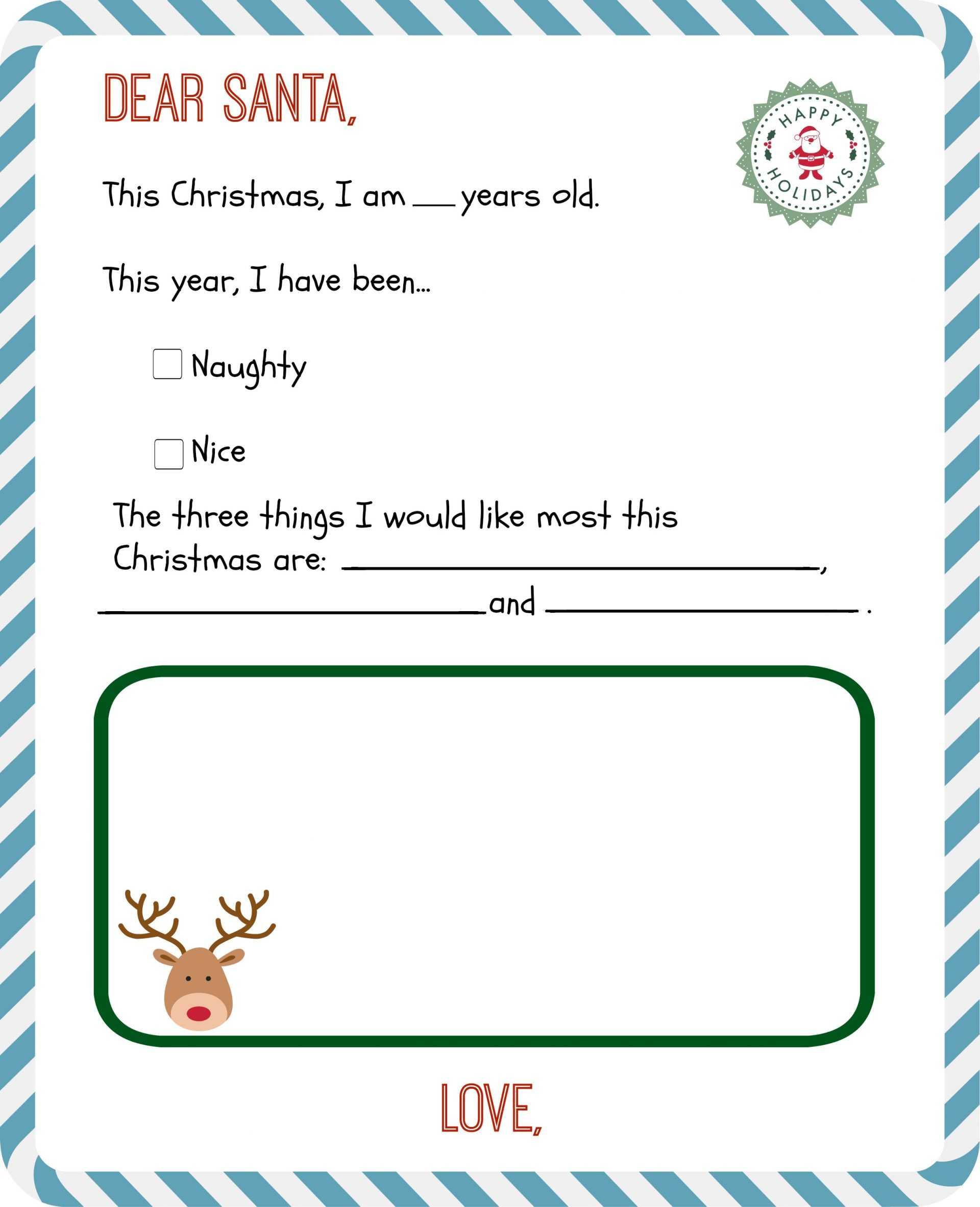 012 Dear Santa Letter Template Ideas Letters Archaicawful Inside Santa Letter Template Word