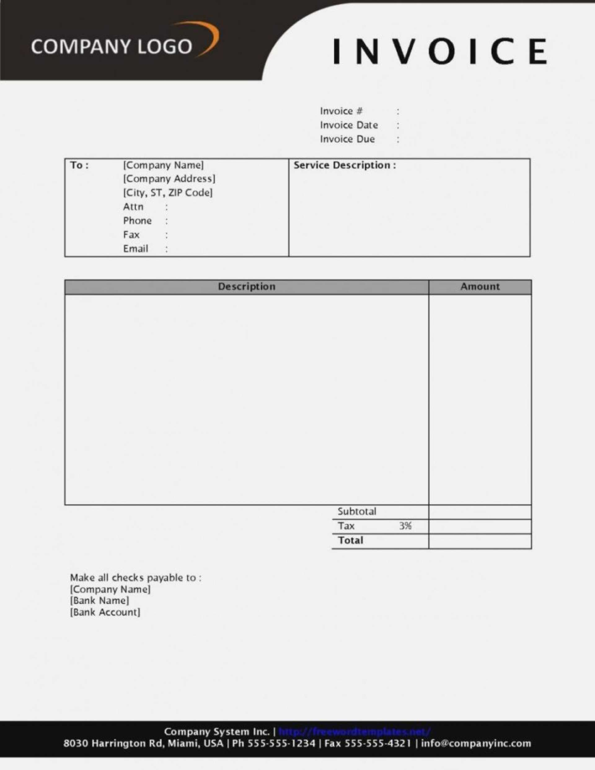 012 Invoice Template Word Free Unbelievable Ideas Proforma Intended For Free Printable Invoice Template Microsoft Word