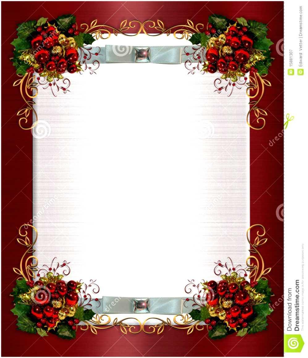 013 Free Christmas Invitation Templates Dinner Template Within Free Christmas Invitation Templates For Word