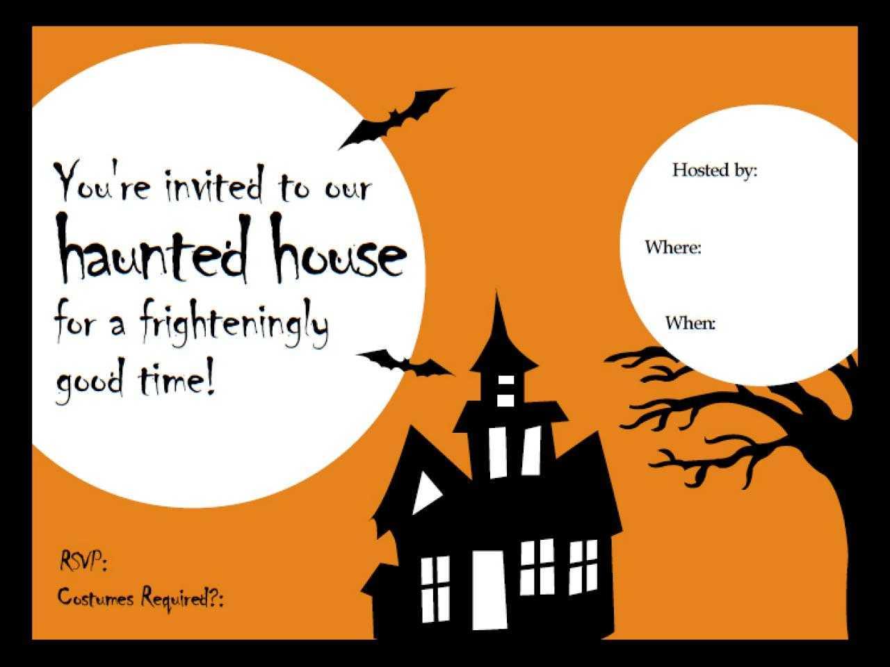 014 Free Halloween Newsletter Templates Word Template Inside Free Halloween Templates For Word