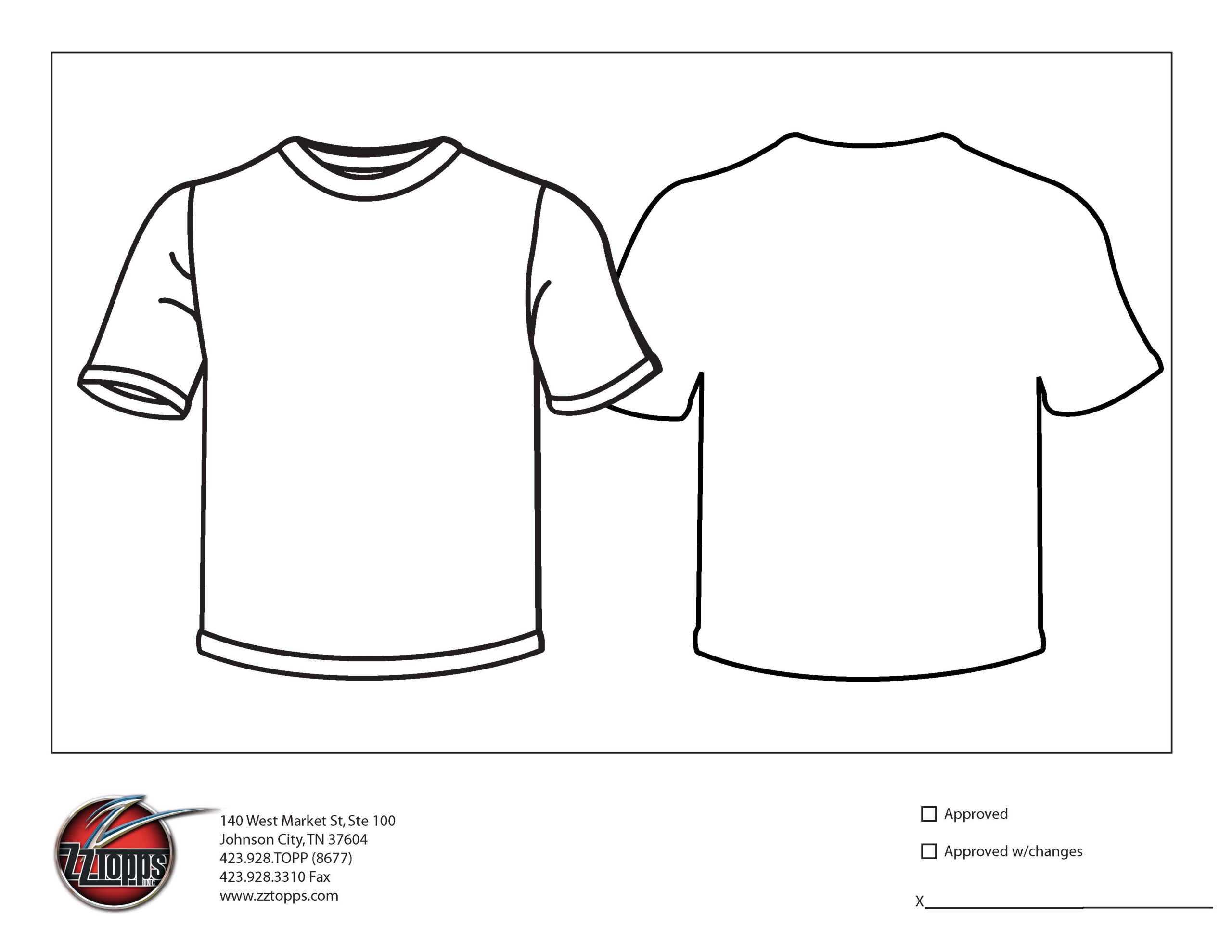 017 Printable T Shirt Order Form Template 483587 Regarding Blank Tshirt Template Printable