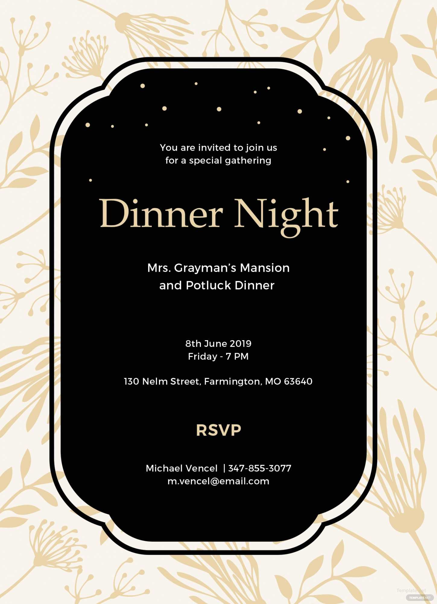 019 Free Dinner Invitation Template In Ms Word Publisher In Free Dinner Invitation Templates For Word