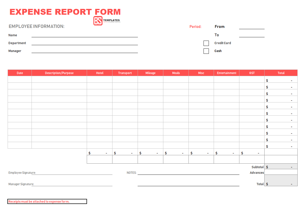 021 Expense Report Form 4 Expenses Template Excel Pertaining To Expense Report Spreadsheet Template Excel