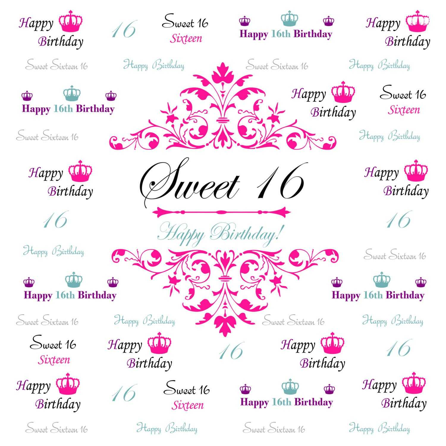 021 Template Ideas Step And Repeat Banner Il Fullxfull Intended For Sweet 16 Banner Template