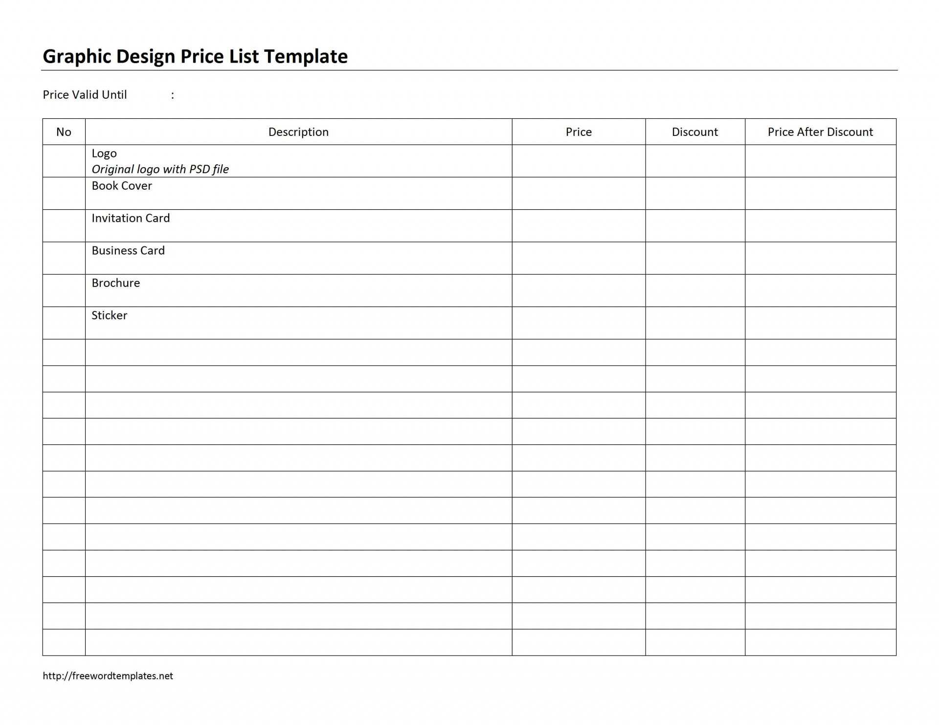 027 Template Ideas Free Price List Word Editable To Do Fresh Regarding Proof Of Delivery Template Word