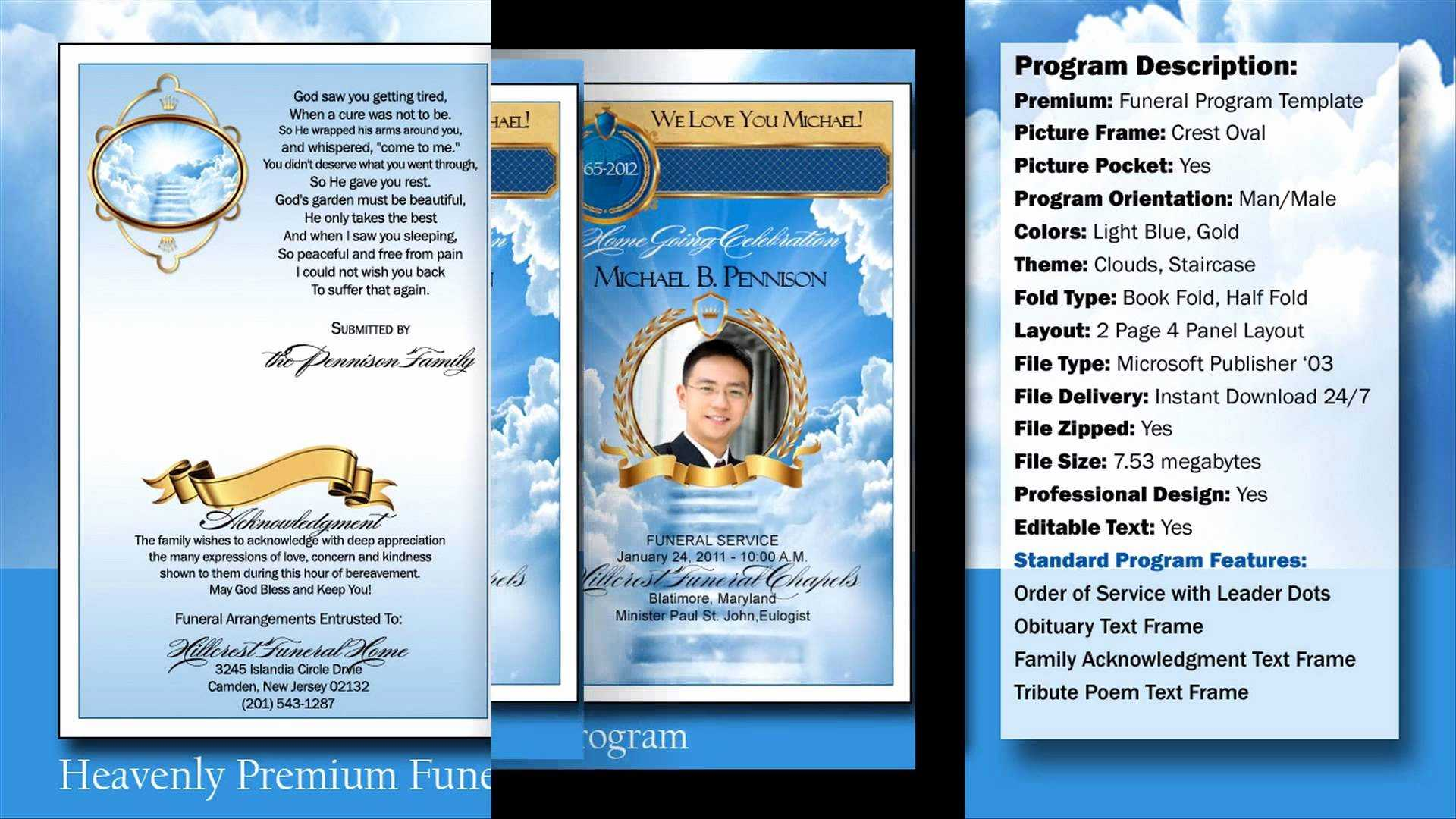032 Free Obituary Template Download Funeral Program For Free Obituary Template For Microsoft Word