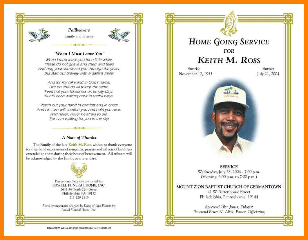 10+ Free Obituary Templates For Microsoft Word   St With Free Obituary Template For Microsoft Word