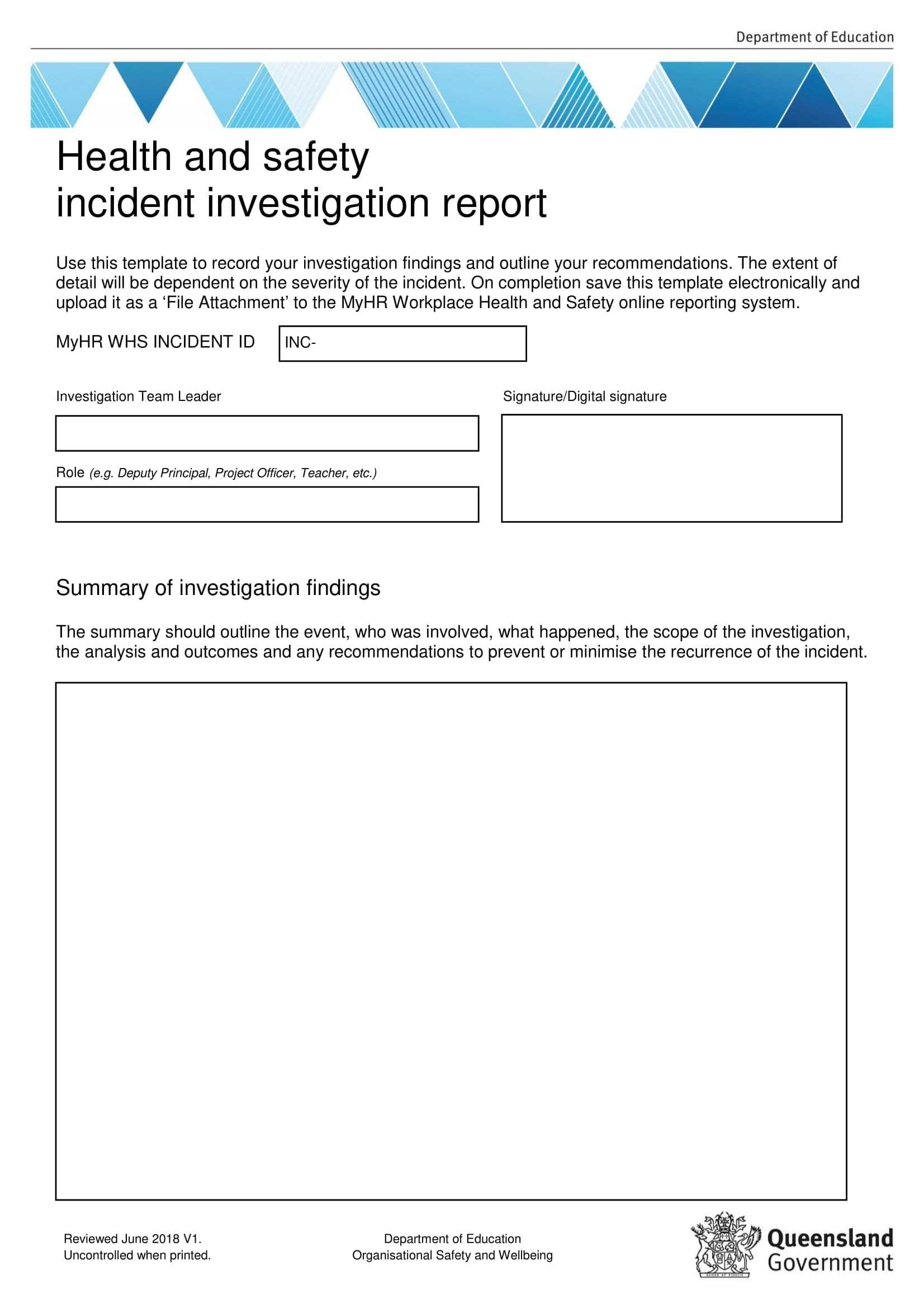 10+ Workplace Investigation Report Examples – Pdf | Examples For Workplace Investigation Report Template
