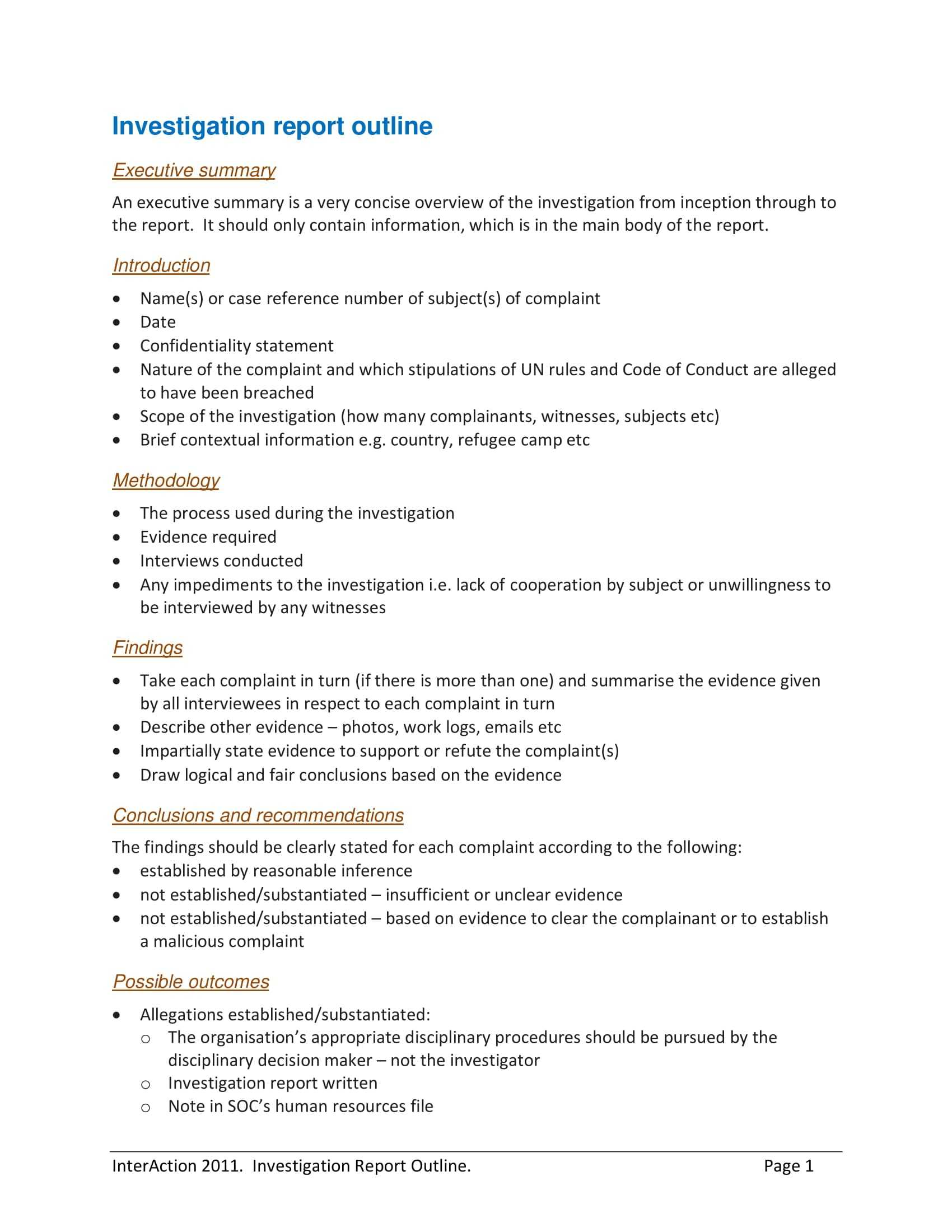 10+ Workplace Investigation Report Examples – Pdf   Examples Inside Workplace Investigation Report Template