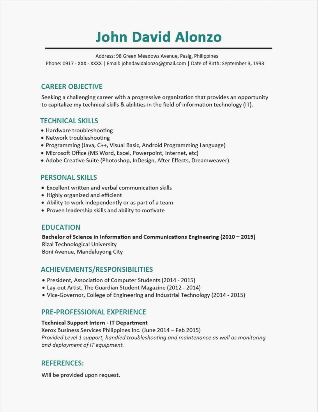 11 12 Sample Cover Letters For Nursing Students Student With Regard To College Student Resume Template Microsoft Word
