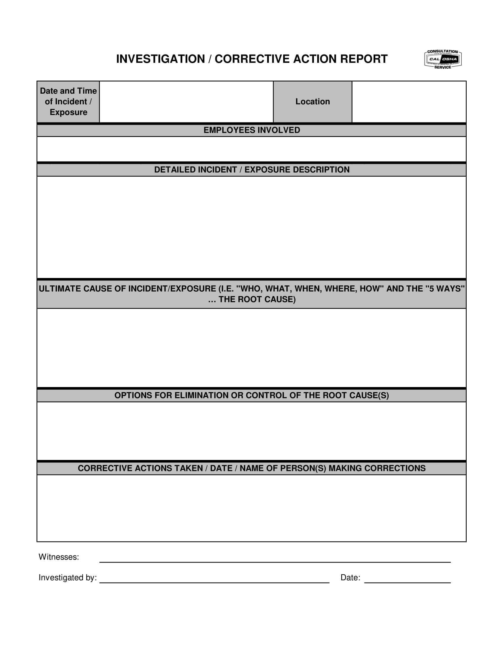 12+ Corrective Action Report Examples - Pdf | Examples Within Corrective Action Report Template
