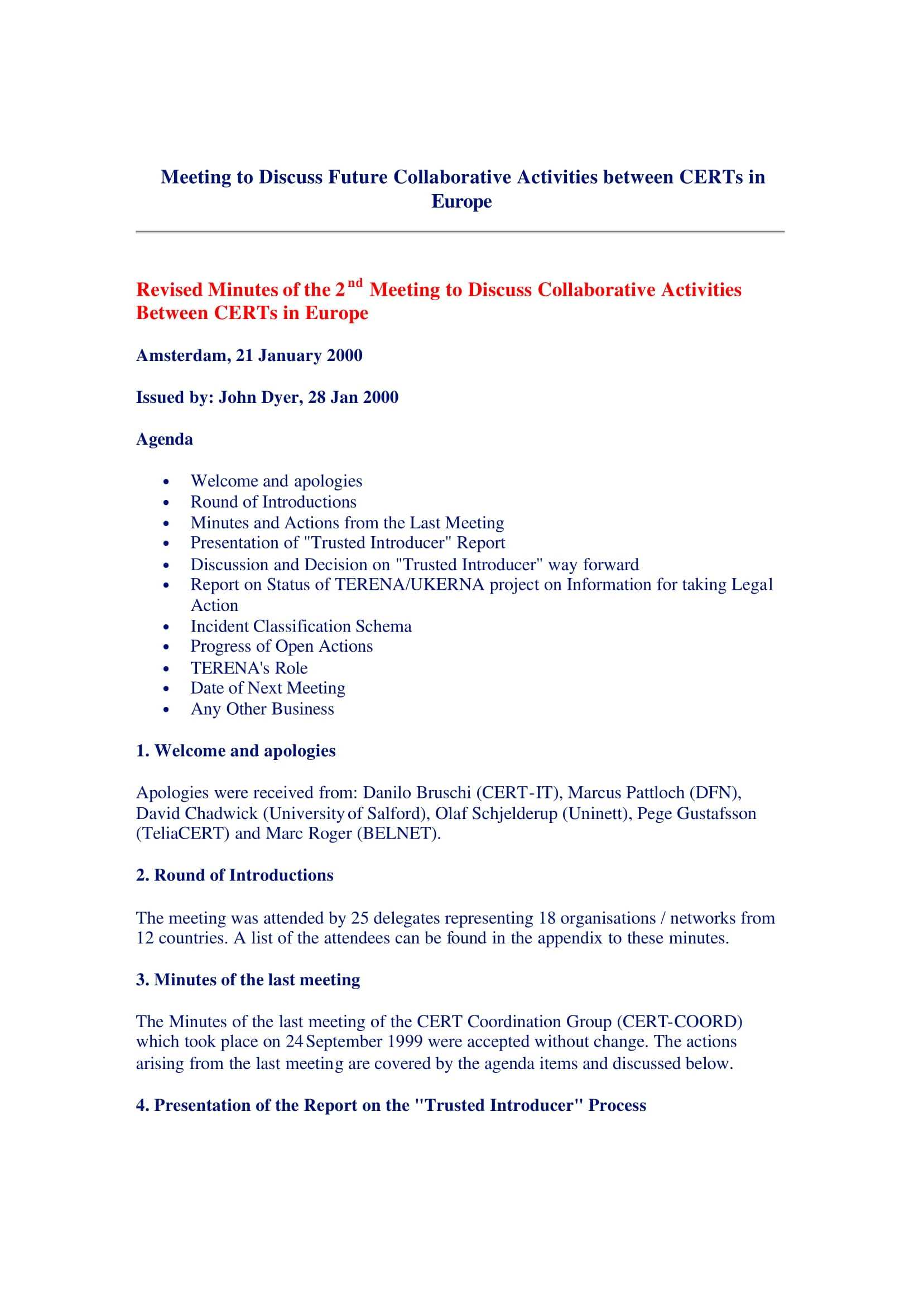 17+ Professional Meeting Minutes Templates - Pdf, Word Inside Corporate Minutes Template Word
