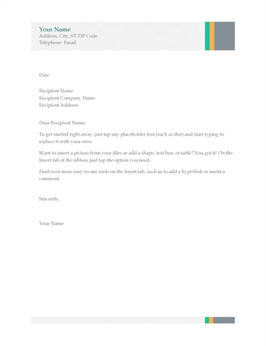 20 Best Free Microsoft Word Corporate Letterhead Templates With Regard To Headed Letter Template Word
