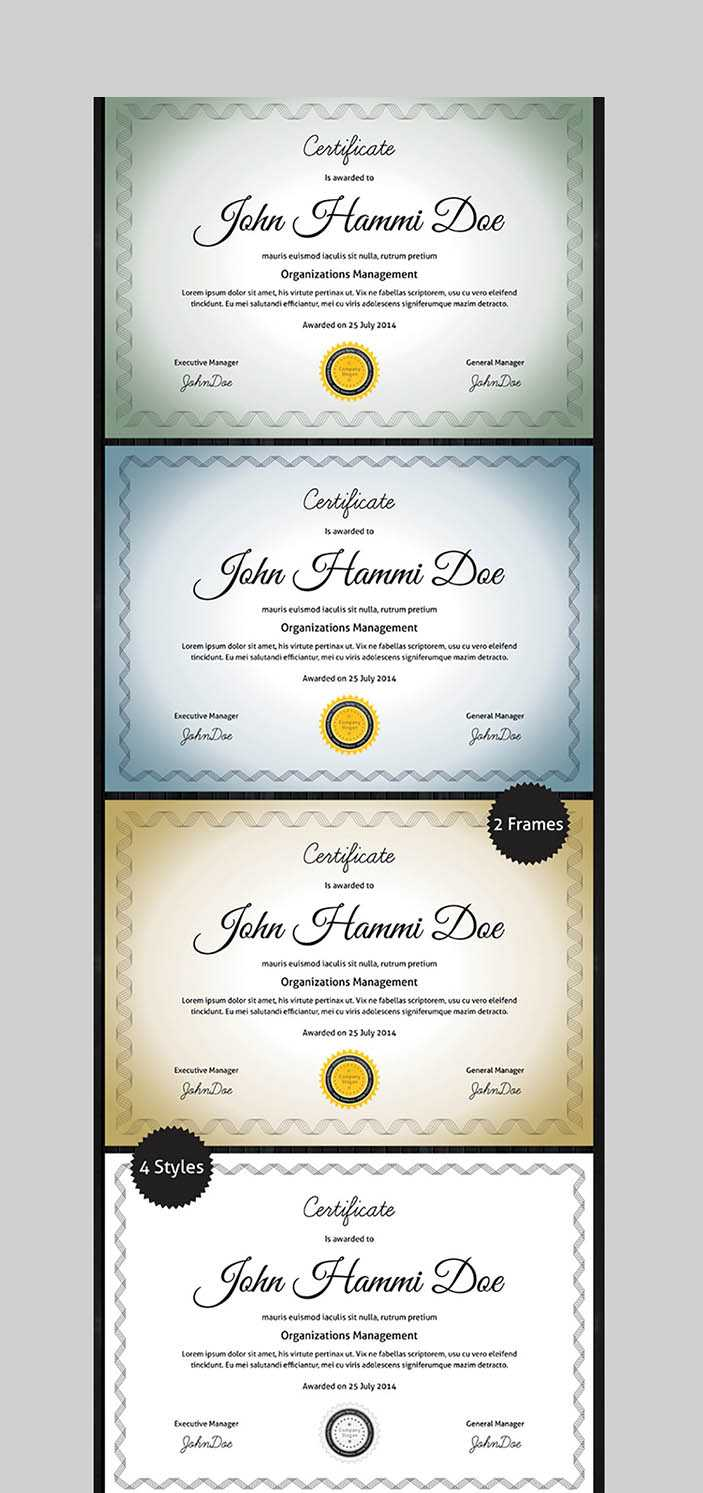 20 Best Word Certificate Template Designs To Award In Professional Certificate Templates For Word
