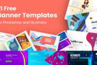 21 Free Banner Templates For Photoshop And Illustrator within Adobe Photoshop Banner Templates
