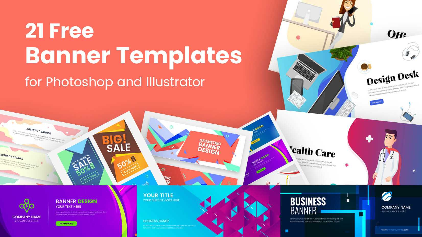21 Free Banner Templates For Photoshop And Illustrator Within Website Banner Templates Free Download