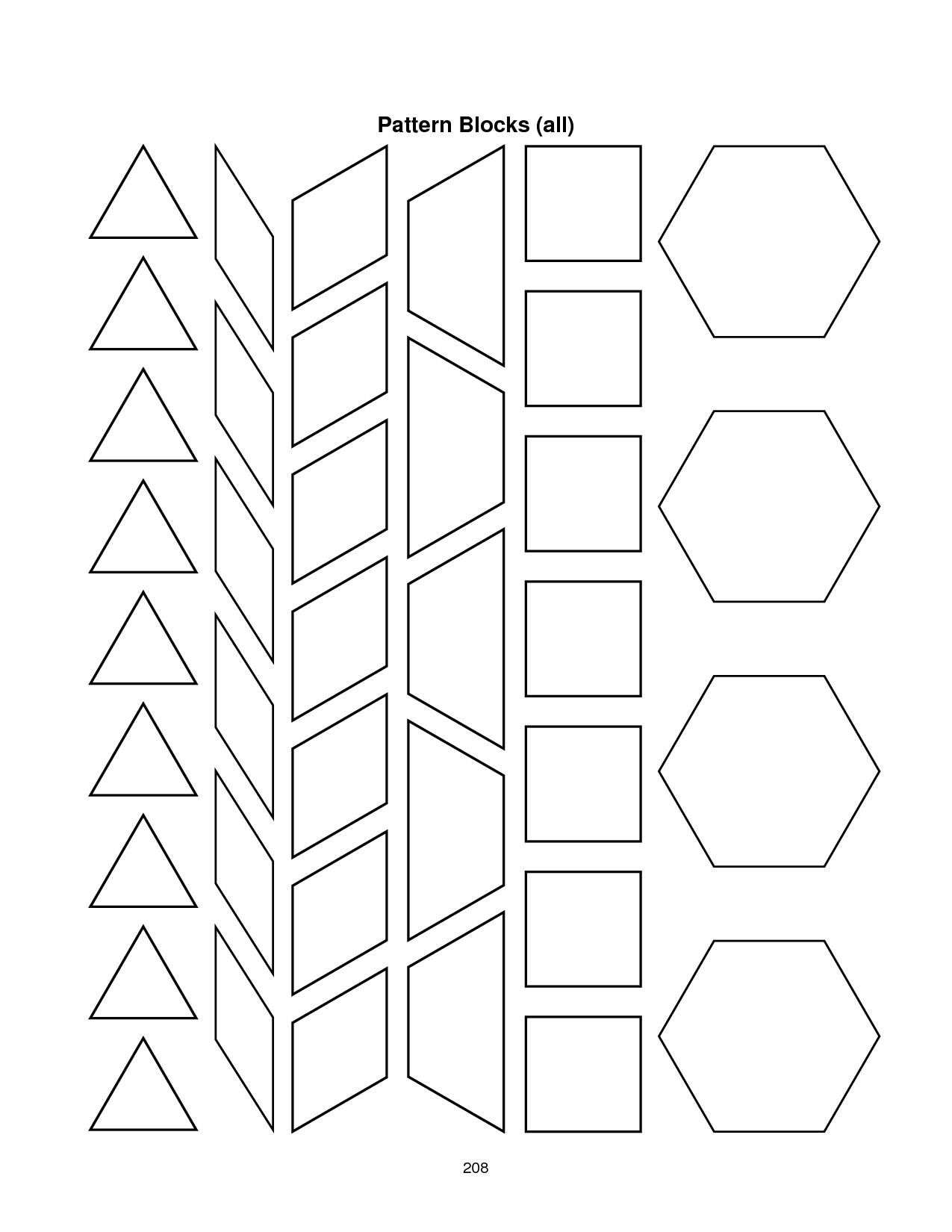 28 Images Of Blank Alphabet Pattern Block Template | Migapps For Blank Pattern Block Templates