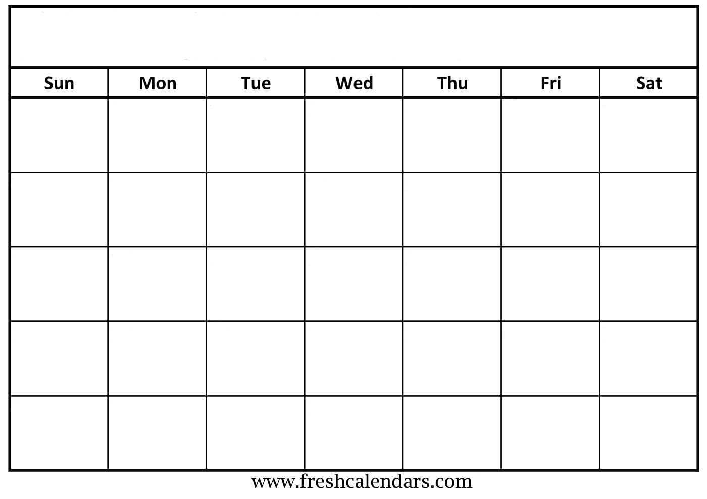 30 Blank Calendar Template 2019 | Andaluzseattle Template For Blank Calender Template