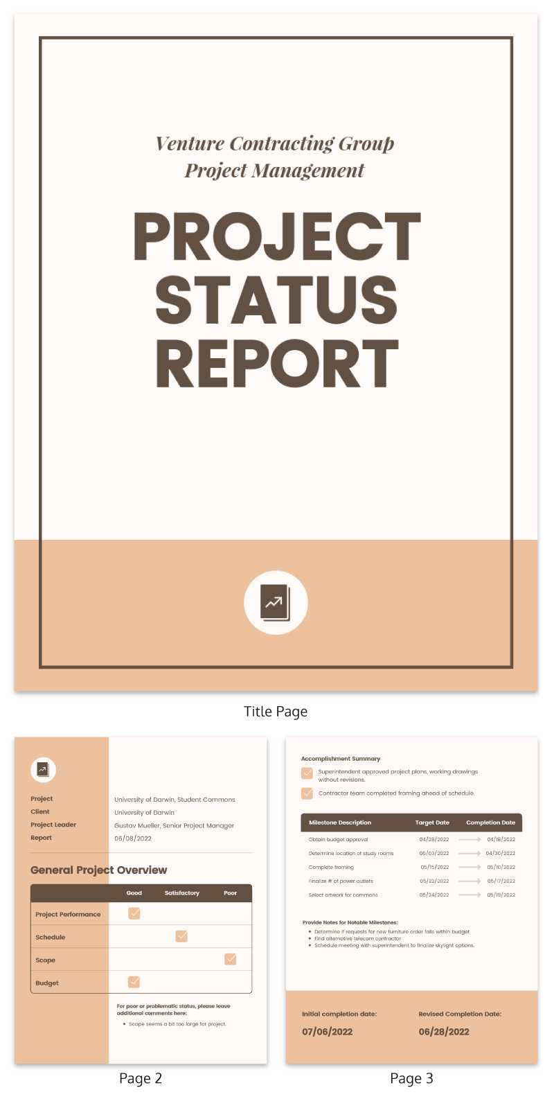 30+ Business Report Templates Every Business Needs – Venngage With Research Project Report Template