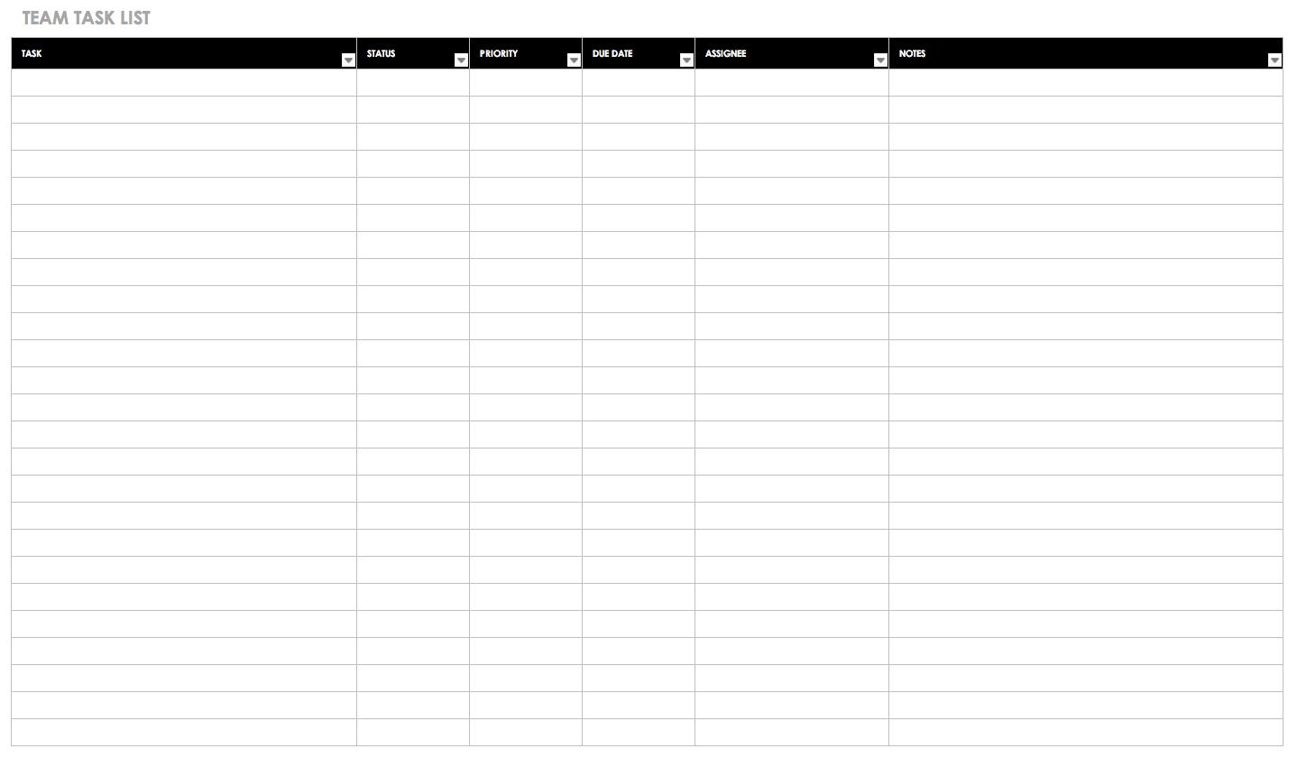 30+ Free Task And Checklist Templates | Smartsheet In Blank Checklist Template Pdf