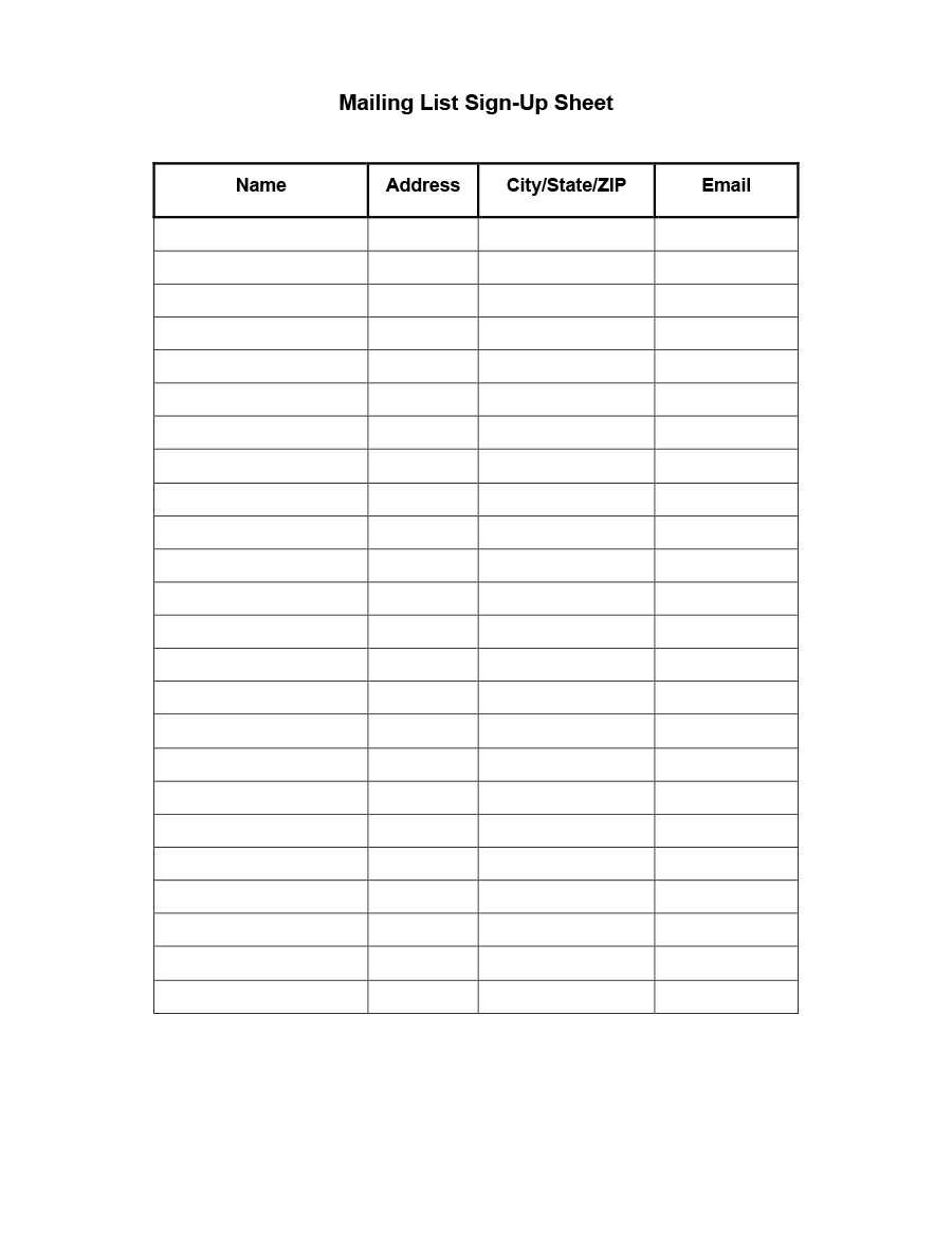37 Free Email List Templates (Pdf, Ms Word & Excel) ᐅ For Blank Checklist Template Pdf