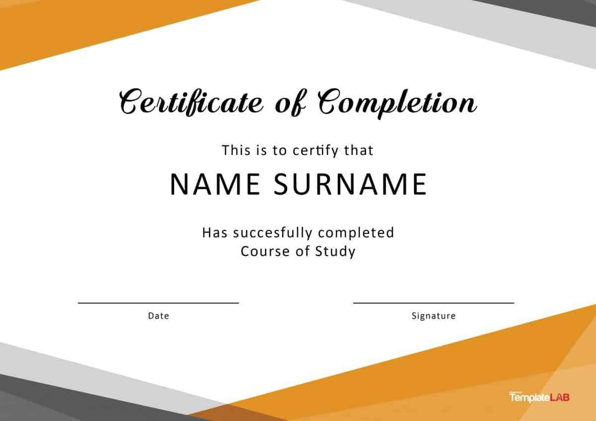 40 Fantastic Certificate Of Completion Templates [Word Inside Training Certificate Template Word Format