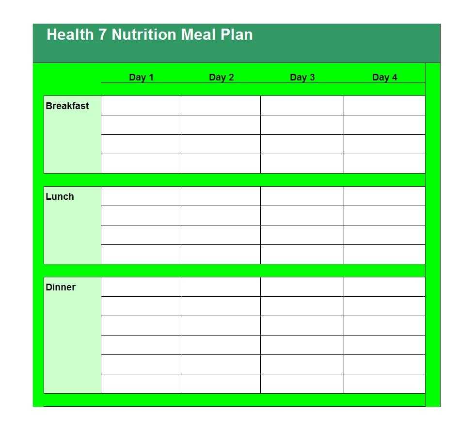 40+ Weekly Meal Planning Templates ᐅ Template Lab Within Meal Plan Template Word