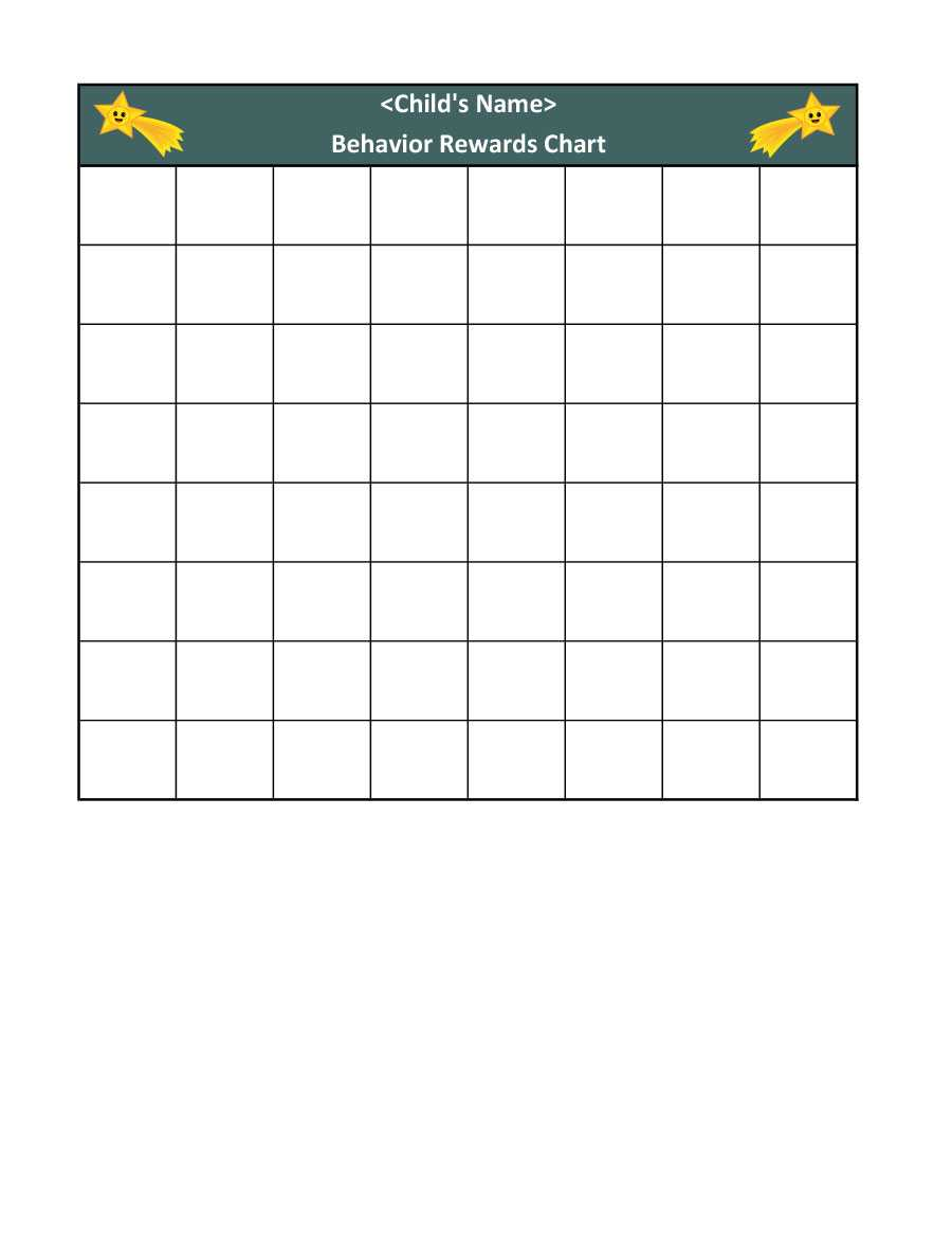 44 Printable Reward Charts For Kids (Pdf, Excel & Word) Within Blank Reward Chart Template