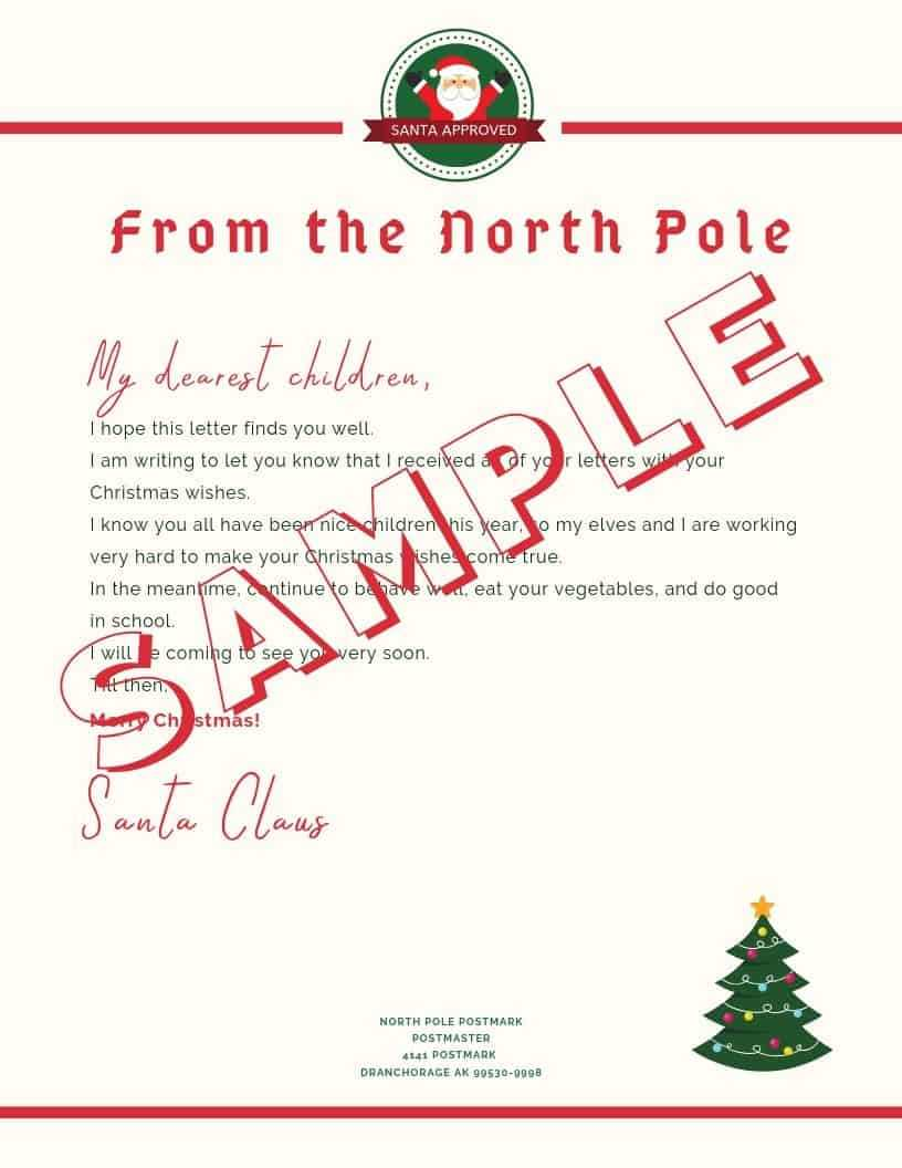 5 Letter To Santa Template Printables (Downloadable Pdf) Pertaining To Blank Letter From Santa Template