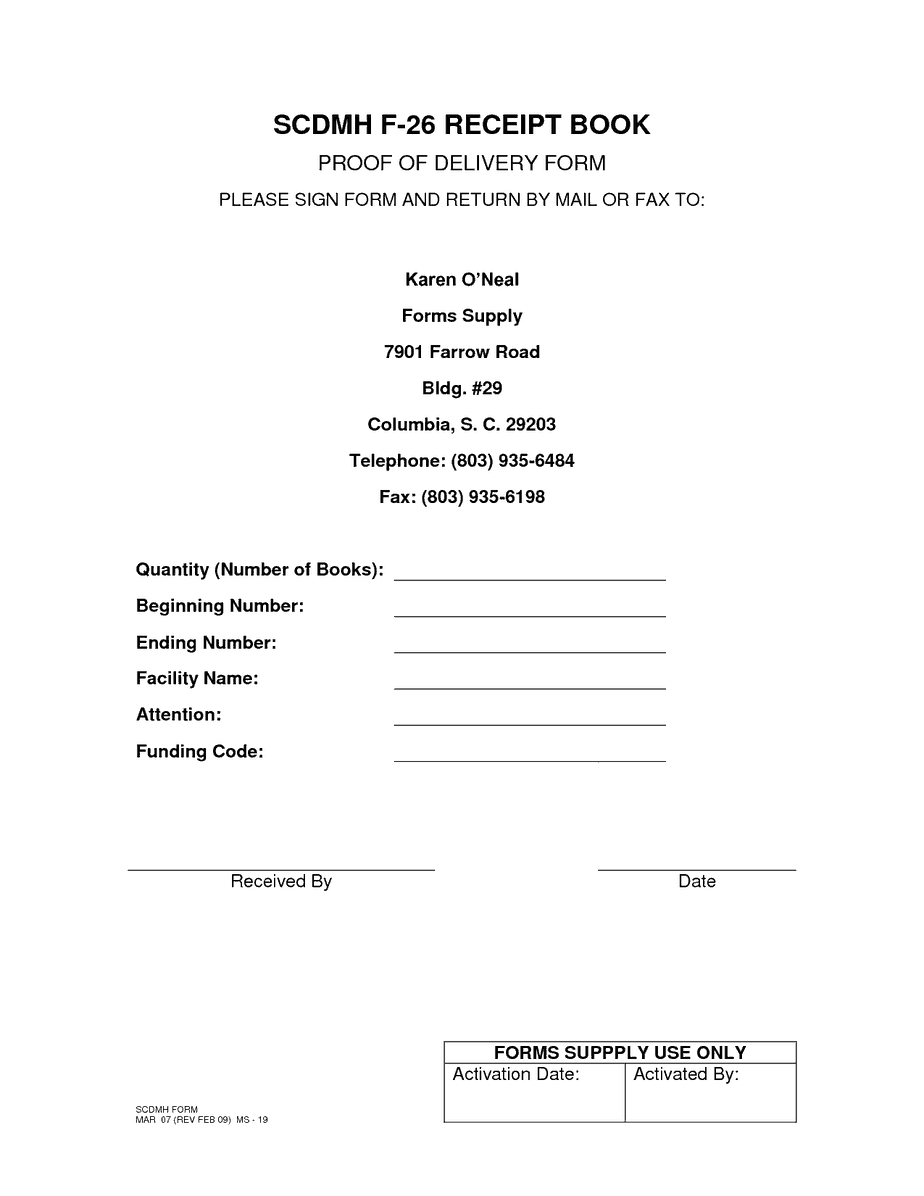 5 Proof Of Delivery Templates | Free Sample Templates Regarding Proof Of Delivery Template Word