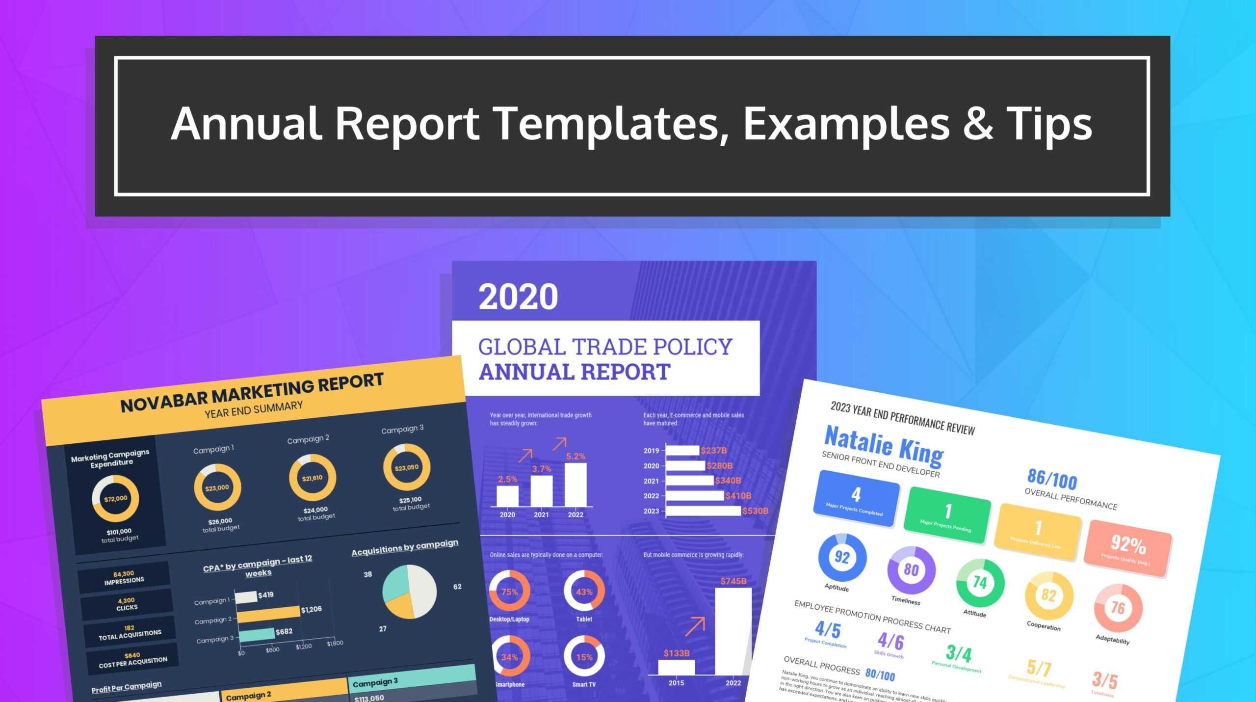 55+ Customizable Annual Report Design Templates, Examples & Tips For Annual Budget Report Template