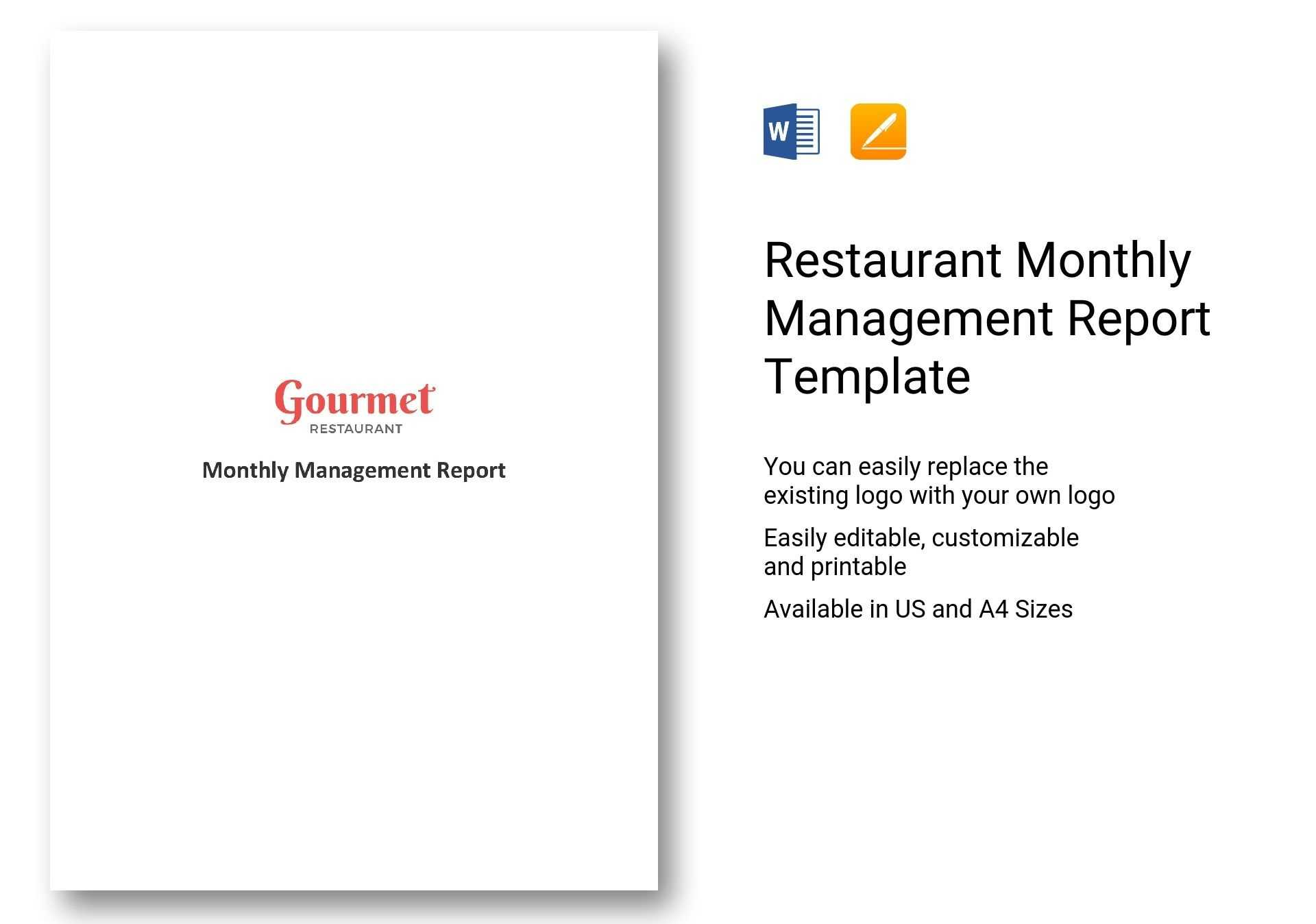 8+ Company Monthly Management Report Templates – Sample Regarding It Management Report Template
