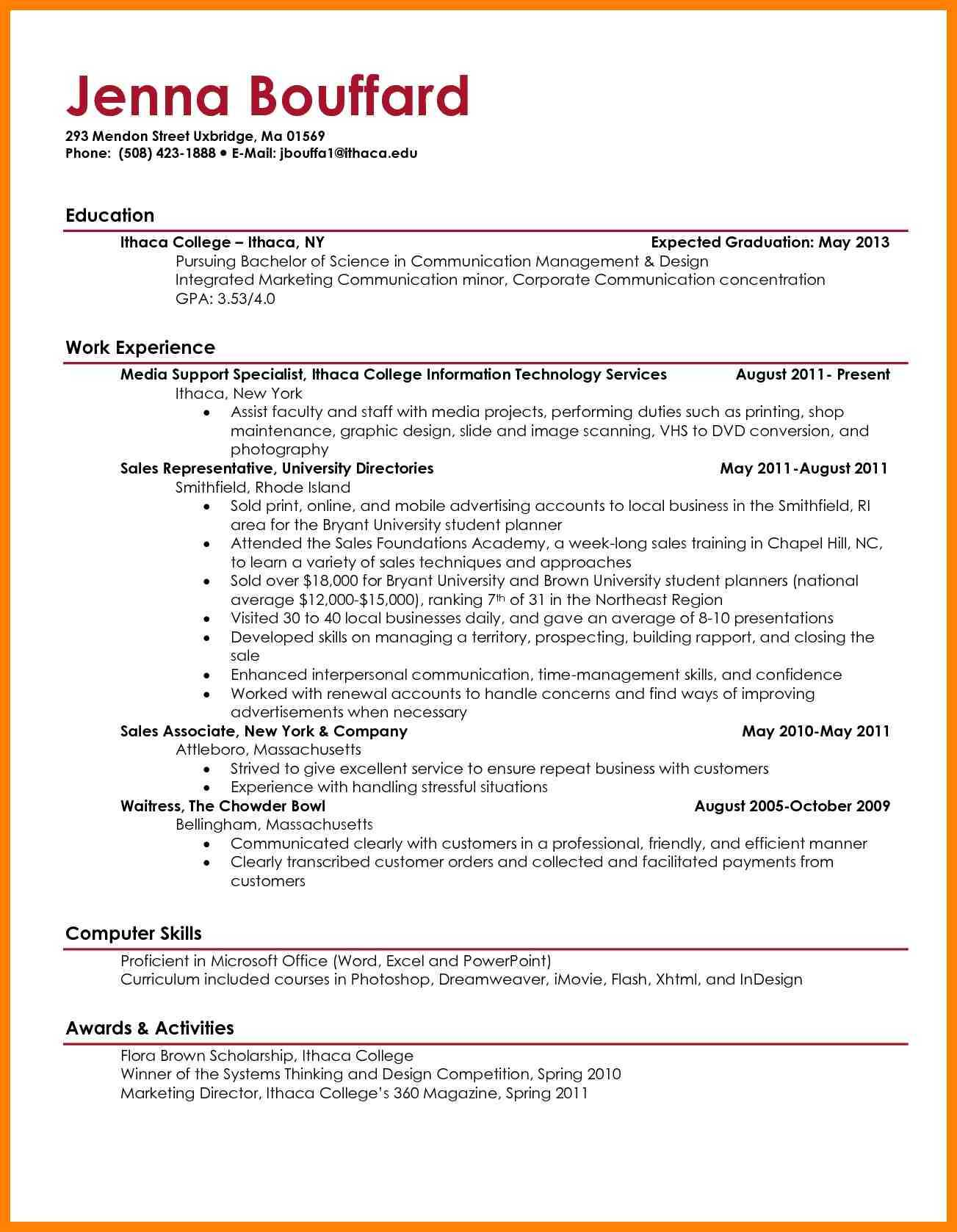 9+ Best Student Resume Format | Writing A Memo With Regard To College Student Resume Template Microsoft Word