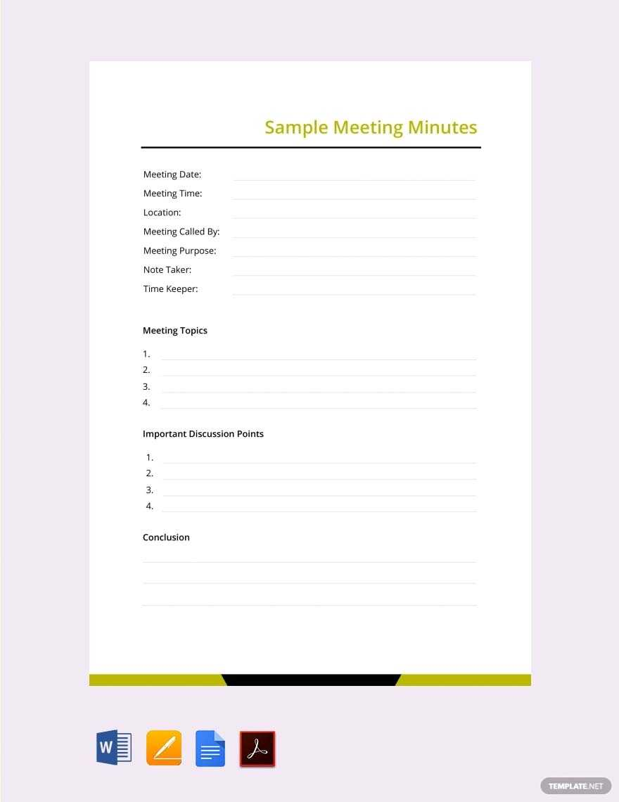 9+ School Meeting Minutes Templates In Word, Pdf, Apple With Regard To Corporate Minutes Template Word