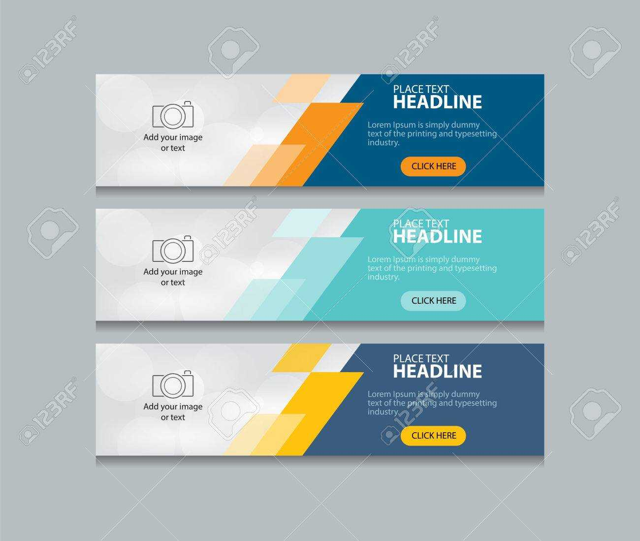 Abstract Web Banner Design Template Background Throughout Website Banner Design Templates