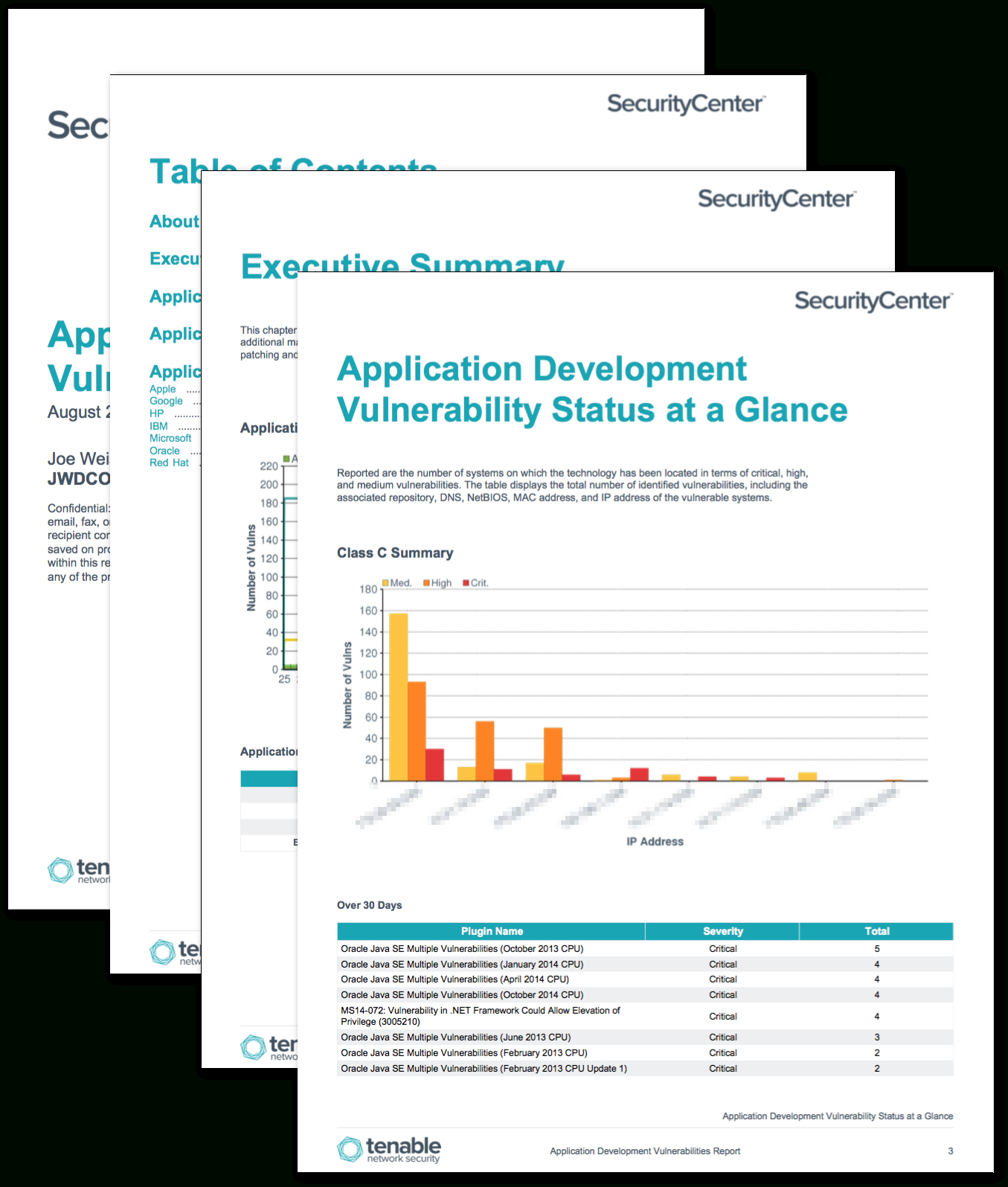 Application Development Summary Report – Sc Report Template Pertaining To Nessus Report Templates