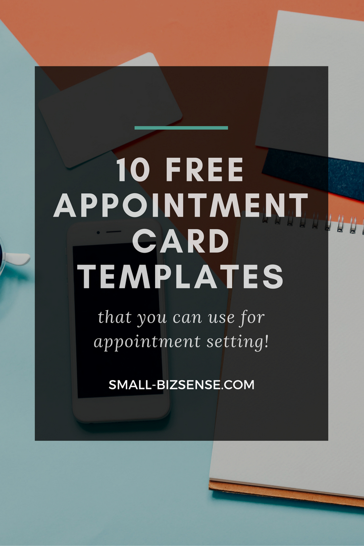 Appointment Card Template: 10 Free Resources For Small In Appointment Card Template Word