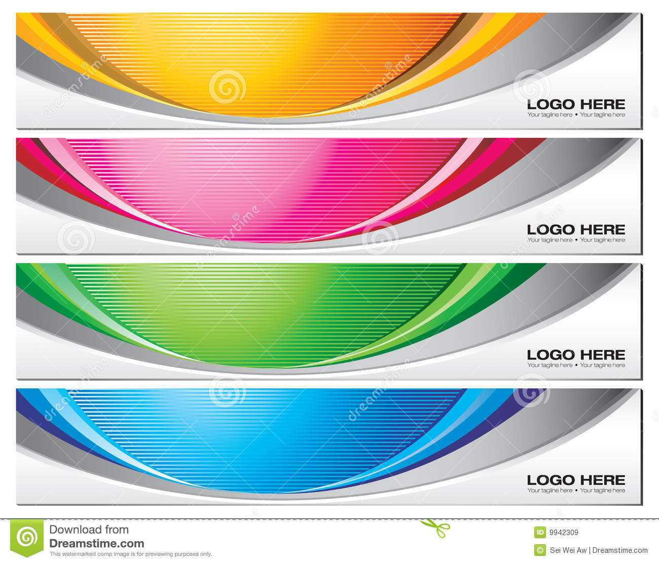 Banner Templates Stock Vector. Illustration Of Vector - 9942309 Within Website Banner Templates Free Download