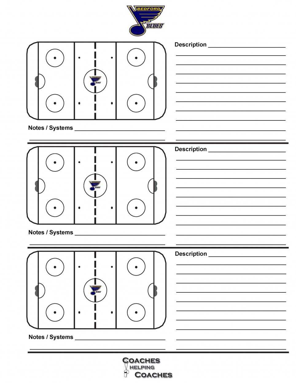 Bedford Minor Hockey Association Hockey Poweredgoalline.ca Pertaining To Blank Hockey Practice Plan Template