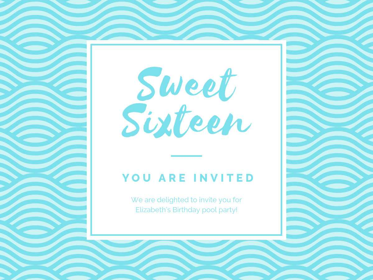 Birthday Party Invitation - Banner Template With Regard To Sweet 16 Banner Template