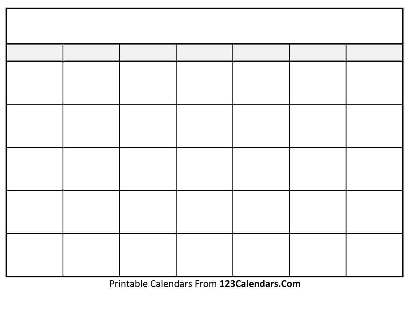 Blank Calendar Print – Raptor.redmini.co With Regard To Blank Calender Template