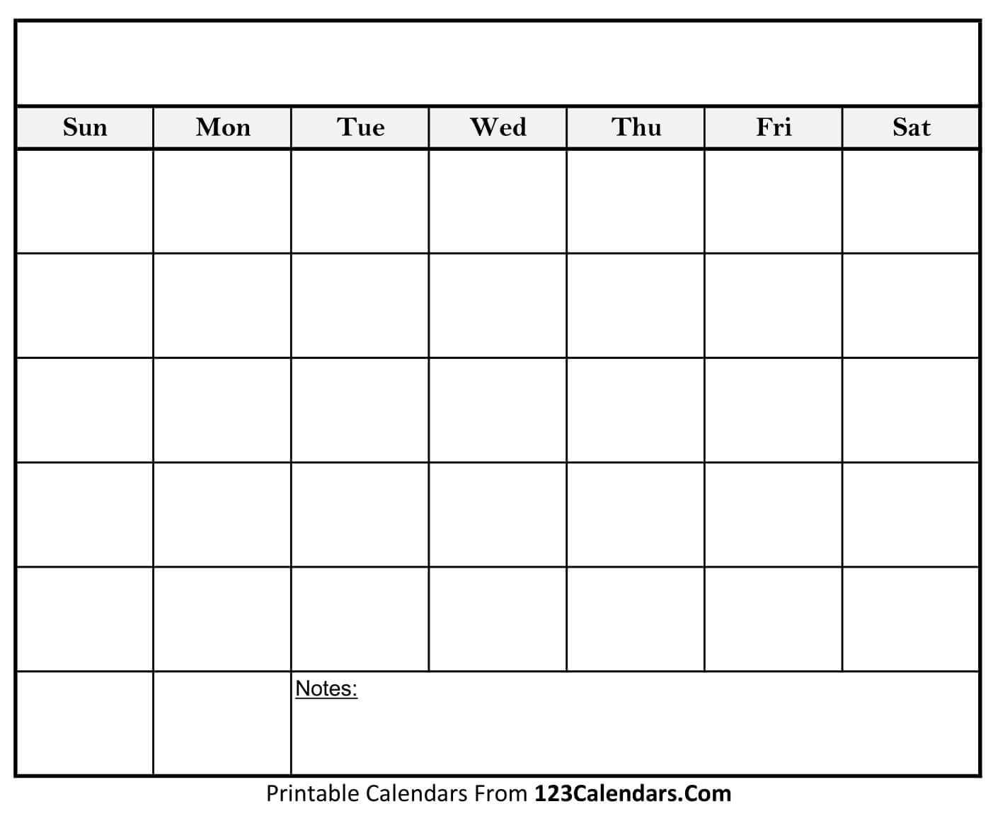 Blank Calendars - Mahre.horizonconsulting.co With Regard To Full Page Blank Calendar Template